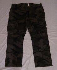 WRANGLER Men's Regular Taper Grey Camo Cargo Pants Premium Cotton Size 42 X 30