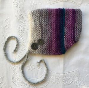 * Newborn Baby Pixie Bonnet/Hat/Beanie * Multicolour * (Warm) * Aust HandKnitted