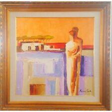 "Adriana Naveh-""Communication"" Original Acrylic on Board. Framed, signed w/Cert"