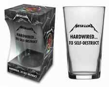 Metallica-Hardwired Official Pinte Verre dans emballage cadeau