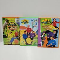 Lot of 3 DVD The Wiggles Wiggly Play Time  Safari Woo-hoo Gremlins