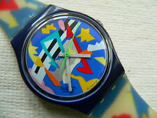 1993 Swatch Watch Silver Patch GN132.