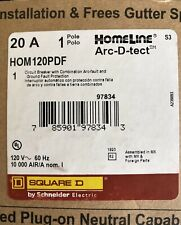 LOT OF 10 SQUARE D HOMELINE HOM120PDF HOM120PDFC DUAL FUNCTION AFCI/GFCI BREAKER