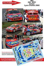 DECALS 1/24 REF 983 PEUGEOT 206 WRC GALPIN RALLYE LYON CHARBONNIERES 2005 RALLLY