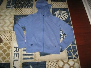 "UNDER ARMOUR Womans ""THE ROCK"" Zip Up Hooded Sweathsirt, Size Small, Poly/Cottn,"