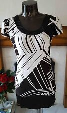 COSTA BLANCA Gorgeous Retro / Vintage Black / White Dress 60's Style Size XS