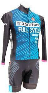 Castelli Full Cycle Sports Long Sleeve Speedsuit Men MEDIUM Blue Road Bike Race