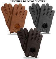 Men's Classic Driving Gloves Soft Genuine Real Lambskin Leather Mesh Gloves New