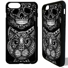 Cat kitten head skull gothic tattoo art cover case for iphone 5 6 6S 7 8 plus X
