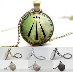 Druid Symbol - Awen - Photo Glass Dome Necklace, Pendant, Keyring