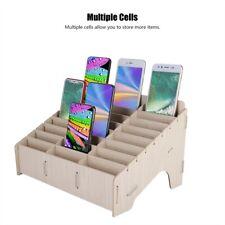 Multiple Cell Wooden Management Storage Box Clean Desktop Cell Phone Storage Box