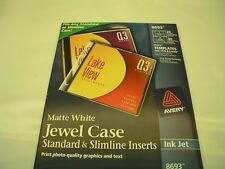 Avery CD/DVD Jewel Case Inserts for Ink Jet Printers, White, Pack of 20, #8693