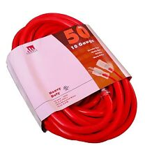50' Extension Cord 10 Gauge Heavy Duty Grounded Lit End 10/3 AWG Ft Feet