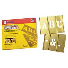 Interlocking Brass Stencil Set 1/2 33pcs C.h. Hanson 10026