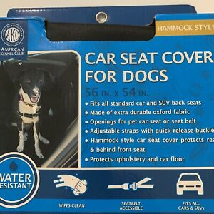 American Kennel Club Hammock Style Car Seat Cover Dogs - NEW Black Water Resist