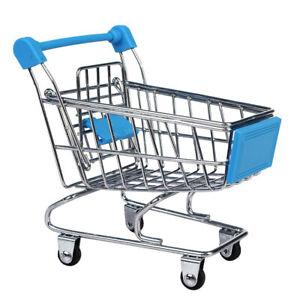 Mini Shopping Cart Supermarket Trolley Kids Child Pretend Play Toy Sky Blue