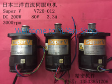 1pc only!! Japan Sanyo Denki Sanyo DC Servo Motor Super V V720-012 200W 80v 3.3a