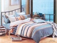 Micro Cotton Duvet Cover Set, Quilt Bedding Set With Pillow Cases& Fitted Sheet