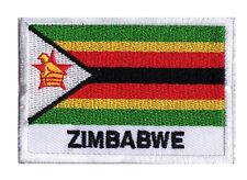 Patch écusson patche à coudre drapeau ZIMBABWE 70 x 45 mm Pays Monde