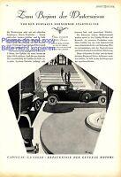 Cadillac Lasalle La Salle XL german ad 1929 advertising General Motors xc