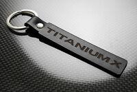 Ford Titanium X Leather Keyring Keychain Schlüsselring Porte-clés Fiesta Focus