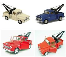 4 PC SET New Kinsmart 1955 Chevy 3100 Stepside Tow Truck Diecast Model Toy 1:32
