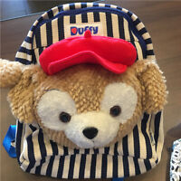 Disney Duffy Bear duffy Head plush Backpack Bag School Bag