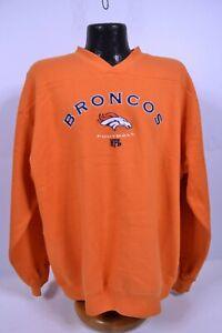 BRONCOS NFL Xl Orange Embroidered Letter Sweatshirt