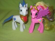 My Little Pony G4 Brushable PRINCE SHINING & PRINCESS CADANCE Wedding Castle Set