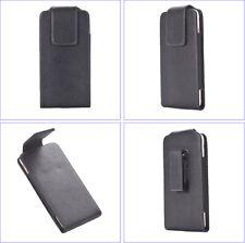 Leather Case Waist Bag, w/ Swivel Belt Clip Loop Holster, Magnetic Flip Cover