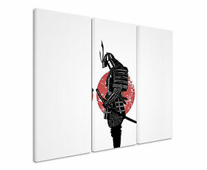 130x90cm -Samurai_Artwork Wandbild Panorama Leinwand Sinus Art