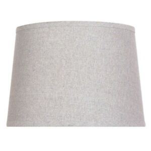 14 inch DIA Grey with Sparkle Cotton Blend Table Lamp Shade