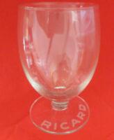Ancien verre ballon Ricard gravé sur le pied n°2