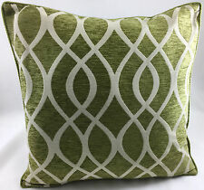 Green with Geometric Wavy Line Design Design Evans Lichfield Cushion Cover