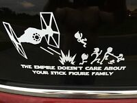 The Empire Doesn't Care About Your Stick Figure Family Vinyl Sticker Decal Car