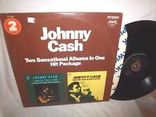 JOHNNY CASH-I WALK THE LINE/ROCK ISLAND LINE(2 DISC-PICKWICK PTP 2045 VG+/VG+ LP