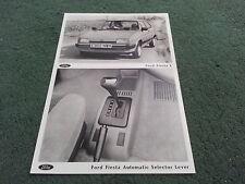 1988 FORD FIESTA L & FIESTA CVT CTX AUTOMATIC UK PRESS PHOTOGRAPH - BROCHURE