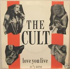 """THE CULT """"LOVE YOU LIVE"""" ultrarare 7' mint"""