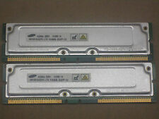 1GB 2 x 512MB Samsung RDRAM Rambus Rimm PC1066-32 1066-32P 4 Dell 8250 8200 8100