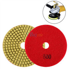 "4"" Wet/Dry Diamond Polishing Pads Grinding Discs Granite Concrete Marble Stone A"