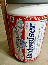 """Vintage Budweiser Beer Can Shaped Cooler 13.5"""" made by Kooler Kraft Usa 1998"""