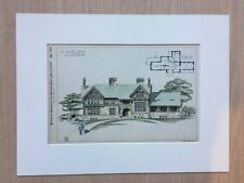 Country House, New York, 1889, C W Stoughton, Original Hand Colored