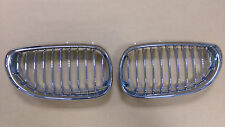 Front Kidney Grille Chrome & Silver For BMW 5-Series E60 E61 525d 520d 530d 528i