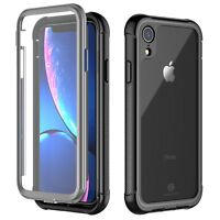 iPhone XR Case Tech™ [Tough Armor] Dual Layered Shockproof w/ Screen Protector