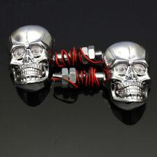 2x Motorcycle Skeleton Head Skull Turn Signal Light Indicators Lights Lamp
