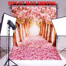 5x7FT Flower Sakura Road Studio Prop Photography Background Photo Backdrop
