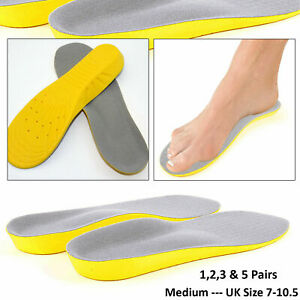 Orthopaedic Shoe Insoles Memory Foam Pads Foot Feet Comfort Heel -UK Size 7-10.5