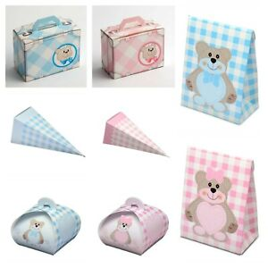 Teddy Bear and Animal Favour Boxes DIY Christening Party Baby Shower Box Only