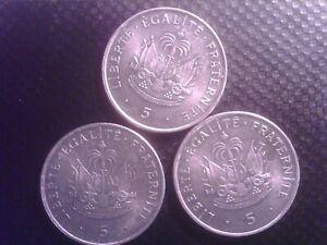 HAITI 5   CENTS 1997   THREE  COINS  OCT22