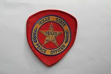 TEXAS STATE PEACE OFFICER EMBROIDERY APPLIQUE PATCH